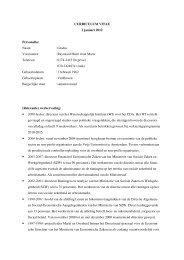 CURRICULUM VITAE 2 januari 2012 Personalia: Naam ... - CDA
