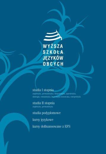 Informator 2011 - Wyższa Szkoła Języków Obcych w Poznaniu
