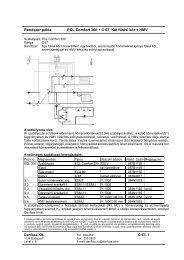 Rendszer példa ECL Comfort 300 + C 67 Két fűtési kör + HMV