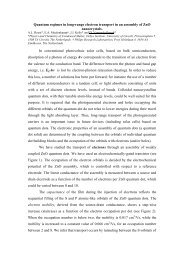 Quantum regimes in long-range electron transport in ... - Quantsol.org