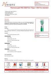 Thermocouple PAS 5308 Part 1/Type 1 IOS Fire retardant - Nexans