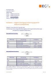 Preisblatt 2 - EGT Energie