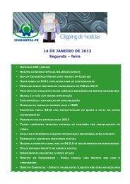 14 DE JANEIRO DE 2013 Segunda – feira - Sindimetal/PR