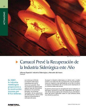 Camacol Prevé la Recuperación de la Industria Siderúrgica este Año