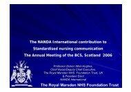 The Royal Marsden NHS Foundation Trust - BCS - Health Scotland