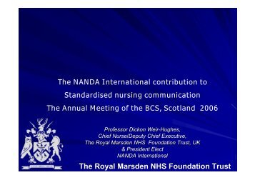 The Royal Marsden NHS Foundation Trust - BCS - Health Scotland