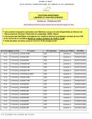 Appels d'offres - Office National interprofessionnel des céréales et ...