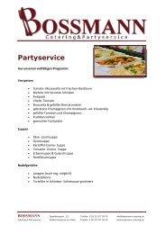 Bossmann - Catering und Partyservice