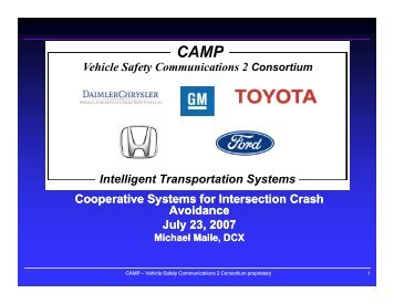 Cooperative Systems for Intersection Crash Avoidance (1.8 MB ).
