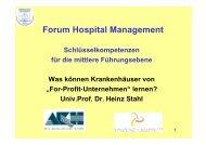 Prof. Dr. Stahl - Vinzenz Gruppe