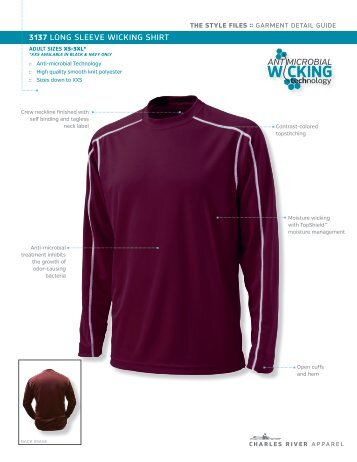 Spec Sheet - Charles River Apparel