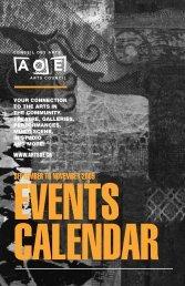 september to november 2009 - Arts Ottawa East / Arts Ottawa Est