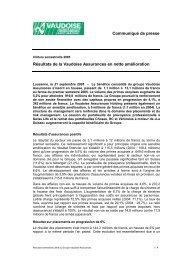 Clôture semestrielle 2005 - Vaudoise Assurances