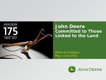 Deere & Company Investor Relations - John Deere