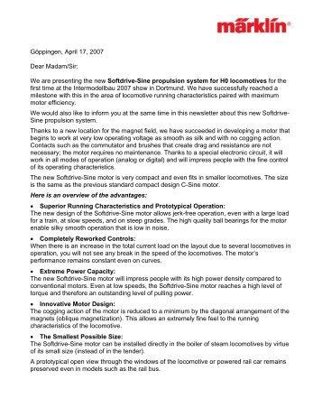 to read the Marklin announcement in PDF format - Euro Rail ...