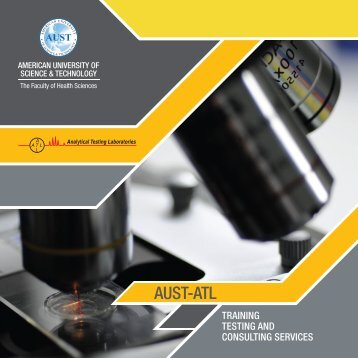 the faculty of health sciences 2 analytical testing ... - AUST-ATL