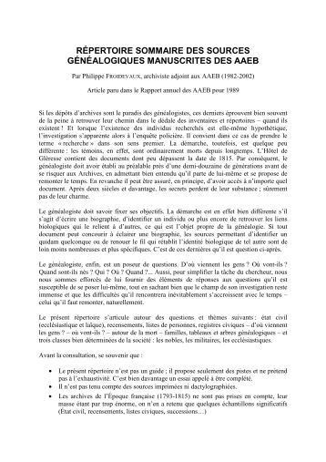 pdf4.Répertoire sommaire des sources généalogiques manuscrites