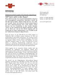 SAP kann jetzt e-dec Export - Würth Logistics