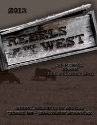 the Rebels of the West 2013 Sale - Bouchard Livestock International