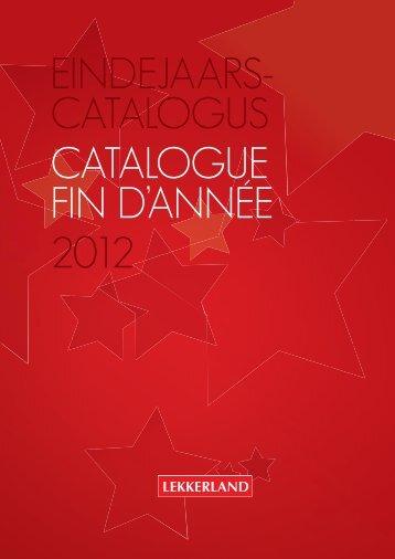 eindejaars- catalogus catalogue fin d'année 2012 - Lekkerland