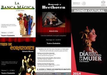 Agenda Cultural Agosto - ISSSTE