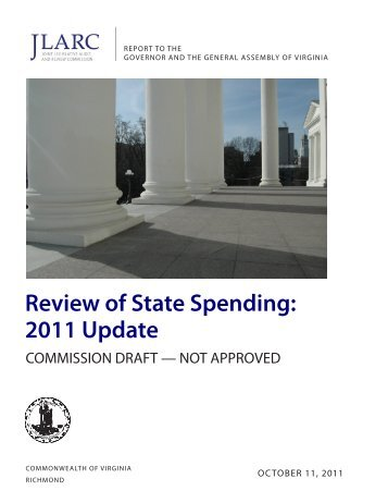 Review of State Spending: 2011 Update - Virginia Joint Legislative ...
