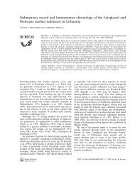 Sedimentary record and luminescence chronology of the Lateglacial ...