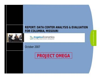 Data Center Analysis and Evaluation for Columbia, Missouri - REDI