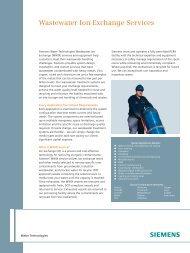 Wastewater Ion Exchange Services - Siemens Water Technologies