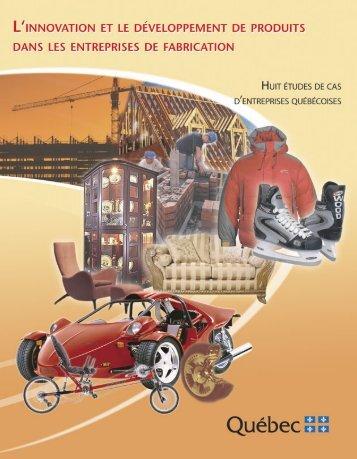 L'innovation et le développement de produits dans les ... - UQAC
