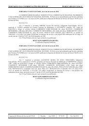 portarias das coordenações regionais publicado em 15.04.11 - Funai