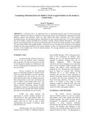 Calculating Utilization Rates for Rubber Tired Grapple Skidders in ...