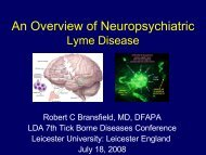 An Overview of Neuropsychiatric Lyme disease - Lyme Disease Action