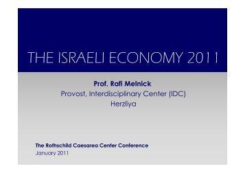 THE ISRAELI ECONOMY 2011