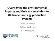 Quantifying environmental impacts and their uncertainties for ... - Inra