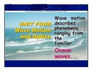 Chapter 15 Making Waves - Oswego