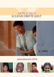 Jahresbericht 2010 - Don Bosco Mondo