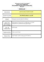 DISCIPLINE INTITULE/CODE MATHEMATIQUE ... - Lycée Lyautey