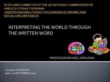 Presentation Michael Omolewa - UK National Commission for ...