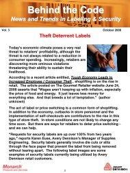 October 2008 Issue - Avery Dennison