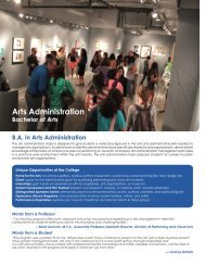 Arts Administration - College of Arts and Sciences - Nova ...