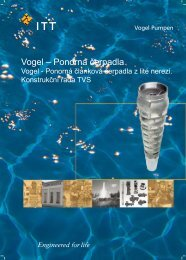 VOGEL - ponorná článková čerpadla, konstrukční řada TVS
