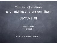 The Big Questions and machines to answer them - University of ...
