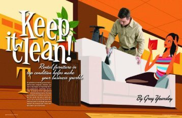 he upholstery cleaning process that a rent-to-own company chooses ...