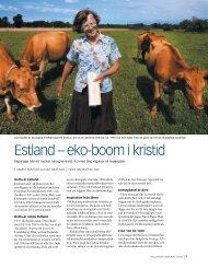 estland – eko-boom i kristid - Ekologiska Lantbrukarna
