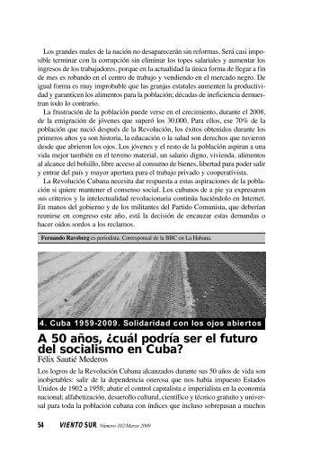cuál podría ser el futuro del socialismo en Cuba? - Viento Sur