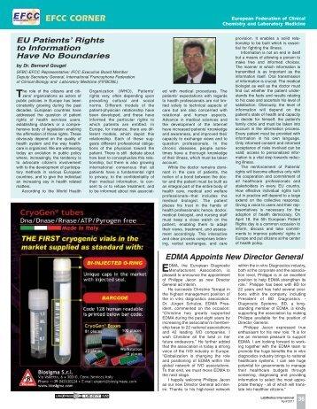 EFCC Corner LMI.pdf - European Federation of Clinical Chemistry ...