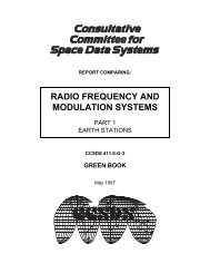 Report: RF&Mod Systems-Part 1: Earth Stations - CCSDS