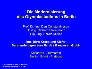 Die Modernisierung des Olympiastadions in Berlin Die ...