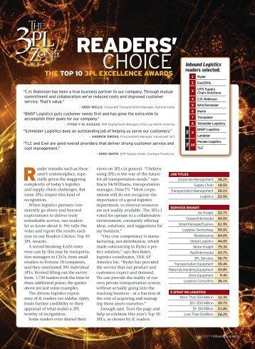 the top 10 3pl excellence awards - Inbound Logistics